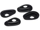 Base Espaçadora para Fixação de Pisca na Carenagem (Par) Yamaha - Oval Pequeno (Gota) - Bering