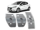 Pedaleira Peugeot 208 Manual em Aço Inox - Listrado Preto