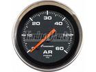 Manômetro de Ar Cronomac Cromado 52mm Preto Luz Branca 60 PSI