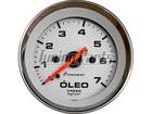 Manômetro de Óleo Cronomac Cromado 52mm Branco Luz Branca 7Kg