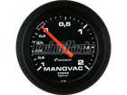 Manômetro de Manovacuômetro Cronomac Street 52mm Preto Luz Branca