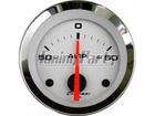 Amperímetro Cronomac Cromado 52mm Branco Luz Branca