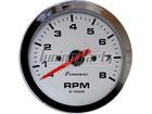 Conta-Giros Cronomac Cromado 100mm Branco 8000 RPM 8 Cilindros