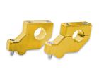Adaptador Alongador de Guidão Avançado Fat Bar 28mm - Altura 20mm Dourado Bering