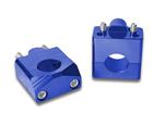 Adaptador Alongador de Guidão Fat Bar 28mm - Altura 35mm Azul Bering