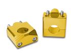 Adaptador Alongador de Guidão Fat Bar 28mm - Altura 35mm Dourado Bering