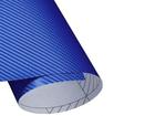 Adesivo Fibra de Carbono Azul