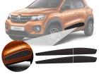 Friso Lateral Adesivo Decorativo Renault Kwid Fibra Carbono