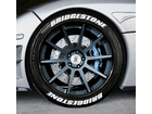 Adesivo Pneu Esportivo Bridgestone + Bridgestone Branco 2,0cm