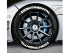 Adesivo Pneu Esportivo Continental + Continental Branco 1,5cm