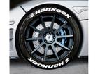 Adesivo Pneu Esportivo Hankook + Hankook Branco 2,0cm