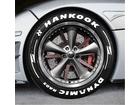 Adesivo Pneu Esportivo Hot Rod Hankook Dynamics RA03 + Setas Branco 2,0cm