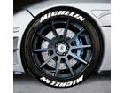 Adesivo Pneu Esportivo Michelin + Michelin Branco 2,5cm