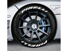 Adesivo Pneu Esportivo Pirelli + Pirelli Branco 2,0cm