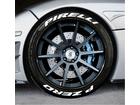 Adesivo Pneu Esportivo Pirelli + Pzero Branco 1,5cm