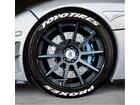 Adesivo Pneu Esportivo Toyo Tires + Proxes Branco 2,5cm