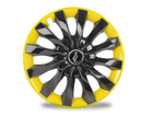 Calota Esportiva Aro 13 FLAP Black/Yellow 4x100 4x108 5x100