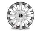 Calota Esportiva Aro 13 FLAP Silver/Graphite 4x100 4x108 5x100