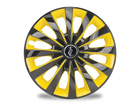 Calota Esportiva Aro 13 Passat CC Black/Yellow 4x100 4x108 5x100