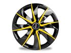Calota Esportiva Aro 13 PRIME Black/Yellow 4x100 4x108 5x100
