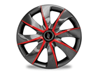 Calota Esportiva Aro 13 PRIME Graphite/Red 4x100 4x108 5x100