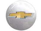 Emblema Adesivo Roda Resinado Chevrolet Cinza 48mm