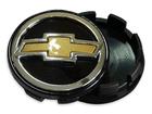 Calotinha Sub-Calota Chevrolet Preto C/ Bot. Dour. 51mm