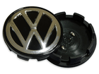 Calotinha Sub-Calota Volkswagen Preto C/ Bot. Cromada 51mm
