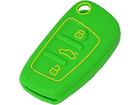 Capinha Capa de Silicone para Chave Audi Verde