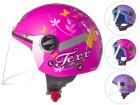 Capacete Moto Infantil Aberto Texx Kids Flowers com Viseira 3mm