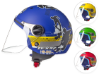 Capacete Moto Infantil Aberto Texx Kids Skate Boys com Viseira 3mm