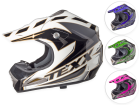 Capacete Motocross Texx Speed Mud em Fibra de Vidro e Kevlar