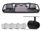 Retrovisor com Câmera de Ré e sensor de Estacionamento Branco