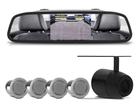Retrovisor com Câmera de Ré e sensor de Estacionamento Prata