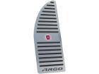 Descanso de Pé para Fiat Argo em Aço Inox - Listrado Preto