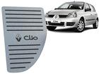 Descanso de Pé Renault Clio 2000/2012 em Aço Inox - Listrado Preto