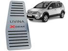 Descanso de Pé Livina X-Gear em Aço Inox - Listrado Preto