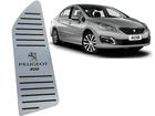 Descanso de Pé Peugeot 408 em Aço Inox - Listrado Preto