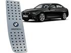 Descanso de Pé BMW 320i em Aço Inox - Pontilhado Preto