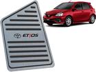 Descanso de Pé para Toyota Etios 2018/.. em Aço Inox - Listrado Preto