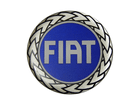 Emblema Adesivo Roda Resinado Fiat Azul 48mm