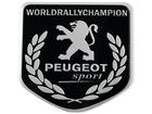 Emblema Badge Peugeot World Rally Champion 5x5cm