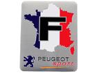 Emblema Badge Peugeot Sport França 7x5cm