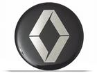 Emblema Adesivo Roda Resinado Renault Preto 48mm