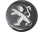 Emblema de Roda Peugeot Resinado 58mm Cinza