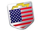 Emblema Badge Chevrolet Bandeira Estados Unidos 4,5x4,5cm