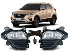 Farol de Milha Neblina Hyundai Creta 2017/.. Botão Modelo Original / Universal
