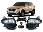 Farol de Milha Neblina Hyundai Creta 2017/.. Botão Modelo Original Shocklight