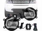 Kit Farol Milha Neblina Universal Led Osram LEDriving Fog 6000K 12V / 24V Luz Diurna DRL - 2 em 1 - 90mm