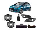 Farol Milha Neblina para Ford New Fiesta 2014/.. Botão Modelo Original Painel + Moldura